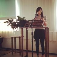 きょうバプテスマを受けた邢暁晨姉が礼拝で はっきりと救いの証をしてくれました。中国からの留学生ですが、きれいな日本語でした。