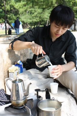おいしいコーヒーいただきました。