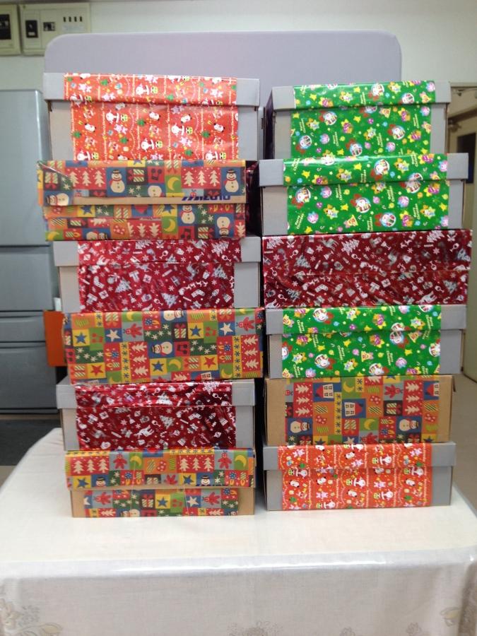 かわいいプレゼントが20箱以上できました!